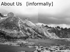 About Us Panel 1 : Wyoming, Titcomb Basin, 2005